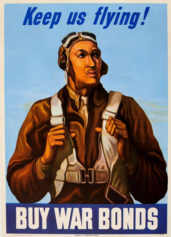 Unknown Original World War Two Poster Keep Us Flying