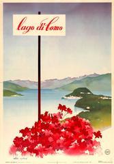 Original Vintage ENIT Travel Poster Advertising Lake Como - Lago Di Como - Italy