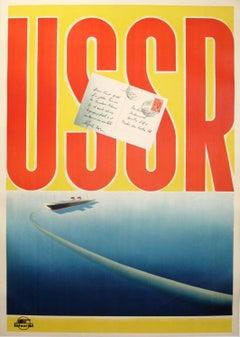 Original Vintage Soviet Intourist Travel Advertising Poster By N. Zhukov - USSR