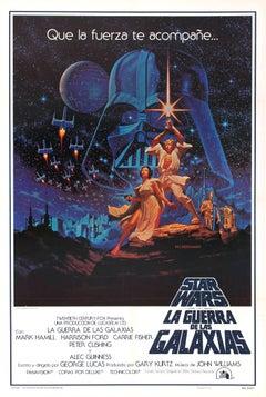 Original Vintage 1977 Iconic Movie Poster By The Hildebrandt Bros For Star Wars