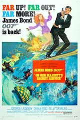 Original Vintage 007 James Bond Movie Poster - On Her Majesty's Secret Service