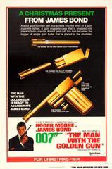 Original 1974 Rare Design James Bond Movie Poster – The Man With The Golden Gun