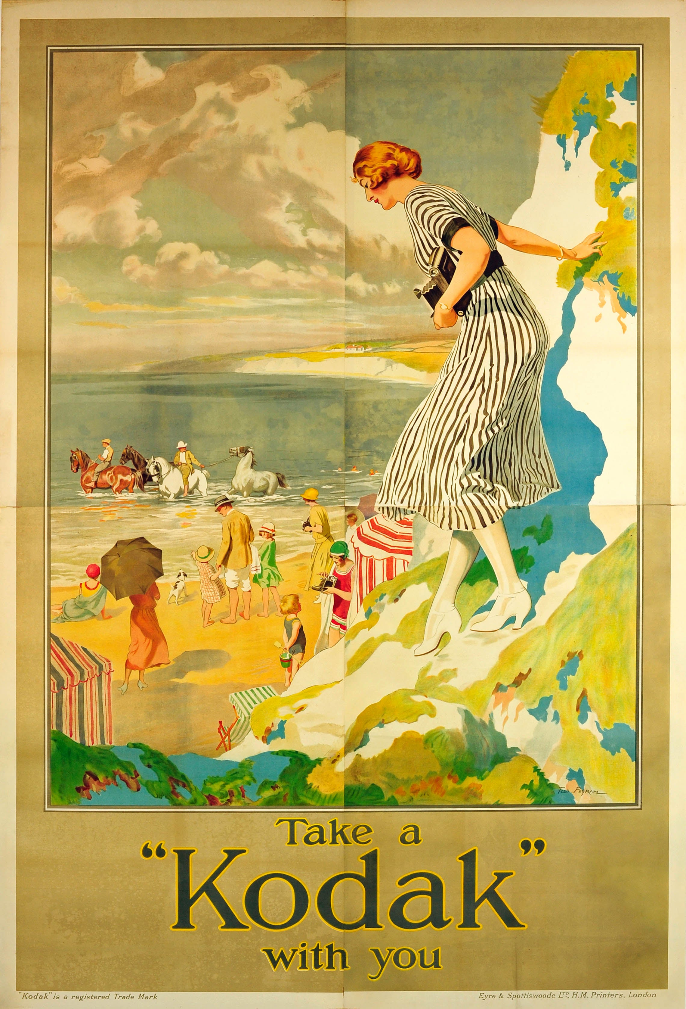 H Bohet  Original Mid Century Modern Travel Poster For Sabena,