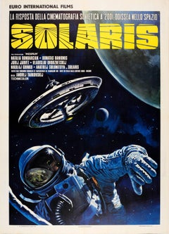 Rare Original Soviet Sci-Fi Movie Poster: Solaris By Tarkovsky (Italian Release)