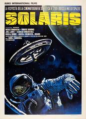Rare Original Soviet Sci-Fi Movie Poster: Solaris By Tarkovsky (Italian Release)