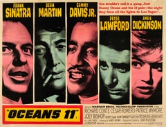 Original Vintage Classic Movie Poster For Ocean's 11 - Sinatra And The Rat Pack
