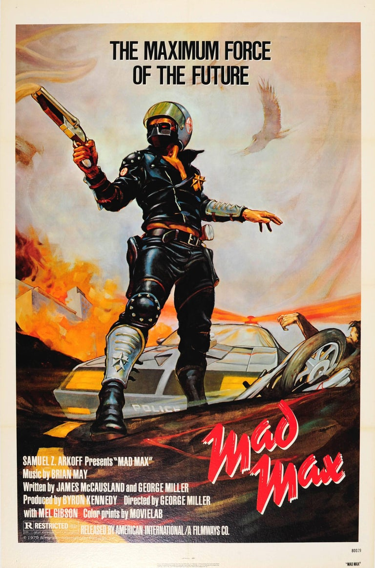 Bill Garland Print - Original Vintage Sci-Fi Movie Poster - Mad Max - Mel Gibson & Music By Brian May