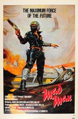 Original Vintage Sci-Fi Movie Poster - Mad Max - Mel Gibson & Music By Brian May
