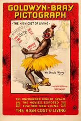 Original Goldwyn Bray Pictograph Animation Movie Poster: The High Cost Of Living