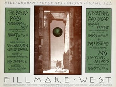 Original Bill Graham Music Concert Event Poster - Fillmore West - San Francisco