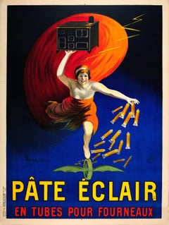 Original Antique Food Advertising Poster By Leonetto Cappiello For Pate Eclair