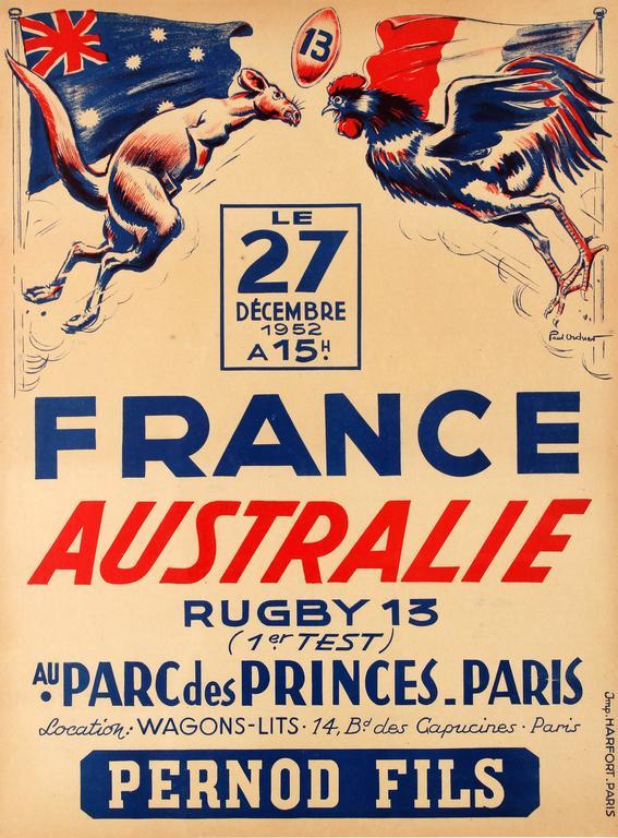 Paul Ordner - Rare Original Vintage Sport Event Poster ...