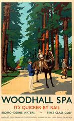 Original Vintage LNER Railway Poster: Woodhall Spa & Golf - It's Quicker By Rail