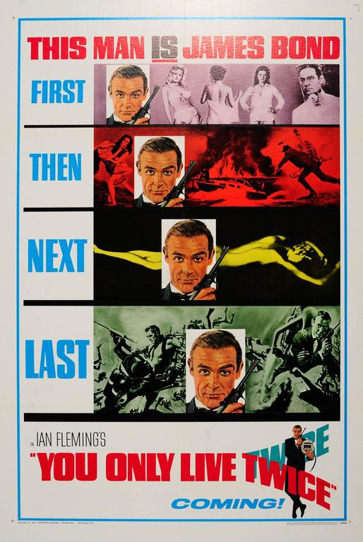 Unknown Print - Original Vintage Teaser Movie Poster For The James Bond Film You Only Live Twice