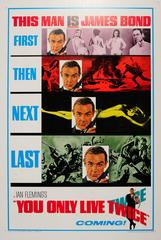 Original Vintage Teaser Movie Poster For The James Bond Film You Only Live Twice