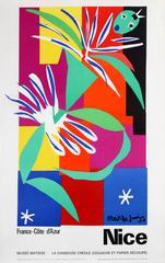 Original Vintage Nice Cote D'Azur Poster - Matisse Museum - La Danseuse Creole