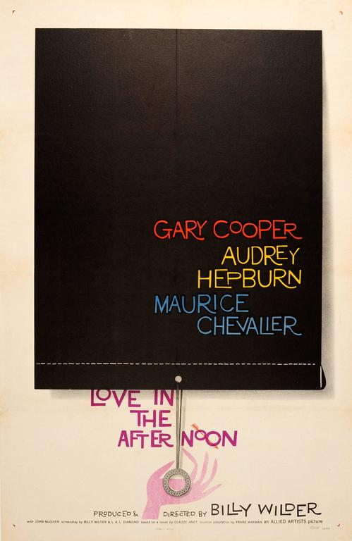 "Saul Bass - Original Vintage Film Poster ""Love In The ..."