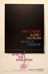 Original Vintage Film Poster Love In The Afternoon Gary Cooper & Audrey Hepburn