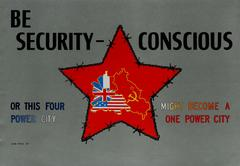 Rare Original Cold War Propaganda Poster Issued By The US Command Berlin Germany
