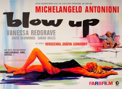 Original Vintage Movie Poster For Antonioni's Blow Up Starring Vanessa Redgrave