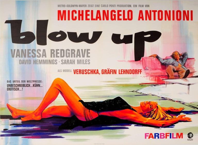 Hans Braun Print - Original Vintage Movie Poster For Antonioni's Blow Up Starring Vanessa Redgrave