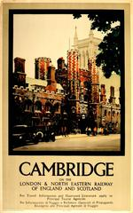 Original London & North Eastern Railway LNER Travel Poster Advertising Cambridge
