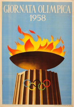 Original XVII Olympic Games Sport Event Poster - Giornata Olimpica / Olympic Day
