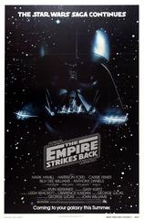Original Vintage Advance Movie Poster For Star Wars The Empire Strikes Back
