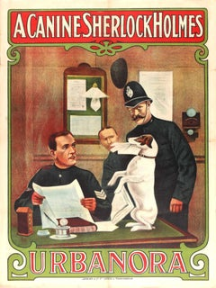 Rare Original Film Poster - A Canine Sherlock Holmes Urbanora The Dog Detective