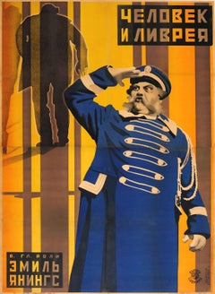 Original Constructivist Soviet Movie Poster For Der Letzte Mann - The Last Laugh