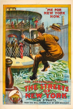 Original Comedy Movie Poster - The Streets Of New York - Play By Dion Boucicault