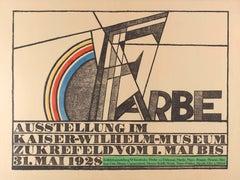Original Vintage 1928 Avant Garde Art Exhibition Poster Kandinsky Picasso Klee