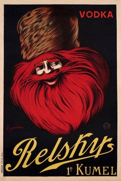 Original Drink Advertising Poster - Iconic Design By Cappiello For Vodka Relsky