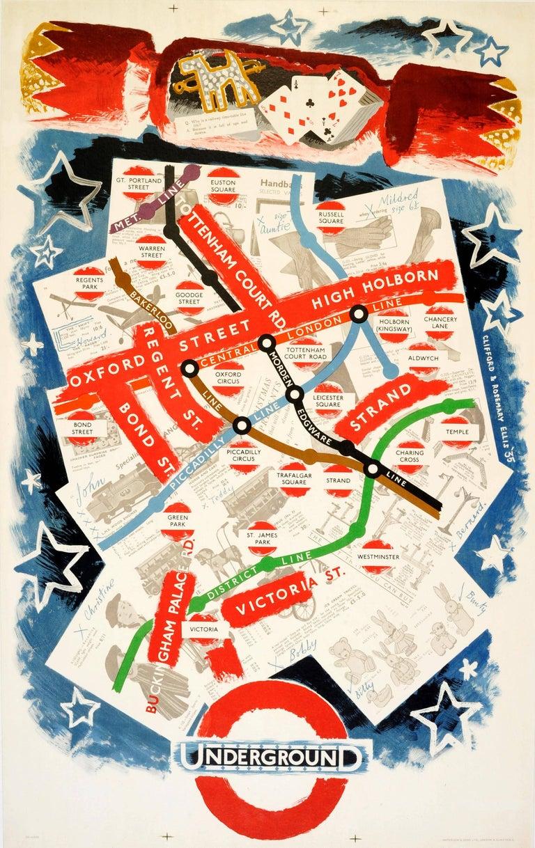 Clifford Rosemary Ellis Original Vintage London Transport Poster