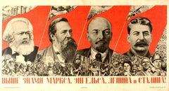 Original Vintage Soviet Constructivist Design Propaganda Poster Communist Banner