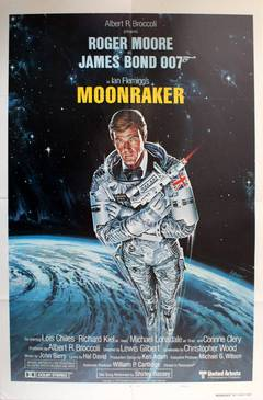 Moonraker: Original Vintage 007 Movie Poster Starring Roger Moore As James Bond