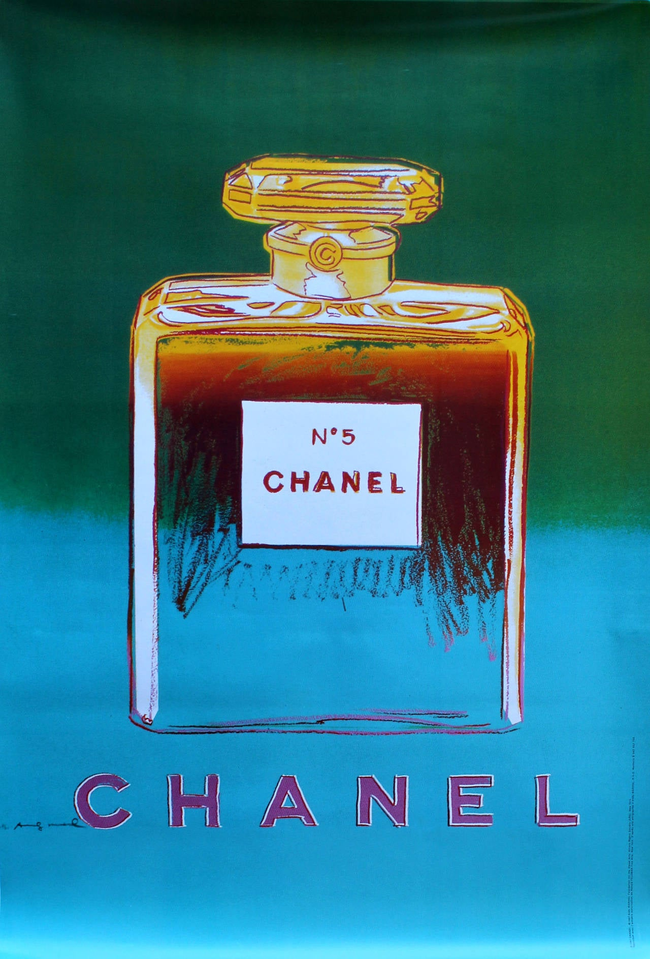 Andy Warhol - Large Original Pop Art Advertising Poster: Chanel No 5 ...