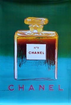 Large Original Pop Art Advertising Poster: Chanel No 5 Perfume By Andy Warhol