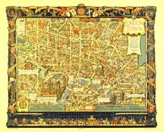 Original 1938 Southern Railways Travel Poster: Pictorial Map Of London Town