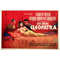 Original Movie Poster for Cleopatra starring Elizabeth Taylor and Richard Burton