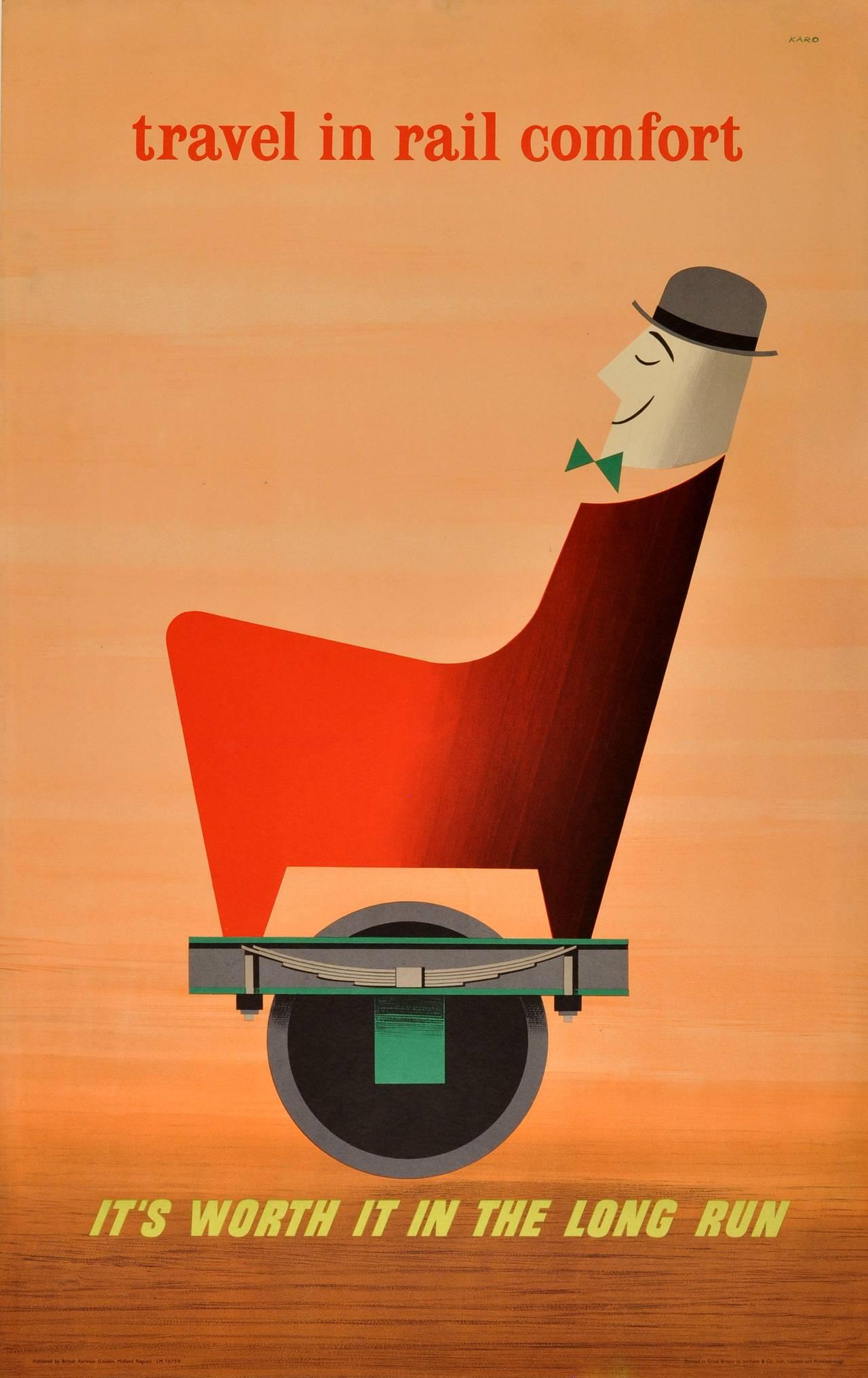 Karo - Original Vintage Mid-Century Modern Advertising Poster ...