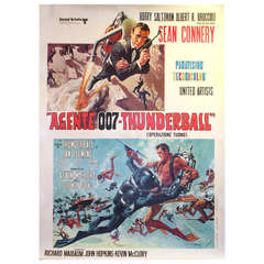 Original vintage James Bond movie poster: Thunderball (Sean Connery as 007)