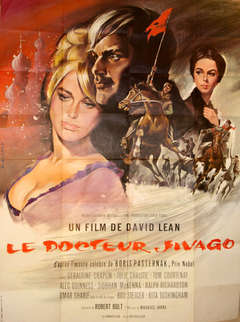 Original vintage movie poster for David Lean's film Doctor Zhivago - Omar Sharif