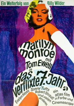 Original Vintage Movie Poster For The Seven Year Itch Starring Marilyn Monroe