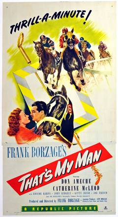 Original Vintage 1947 Movie Poster For A Horse Racing Film, That's My Man
