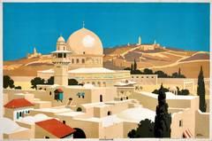 Original 1920s Empire Marketing Board Poster - Jerusalem - By Frank Newbould