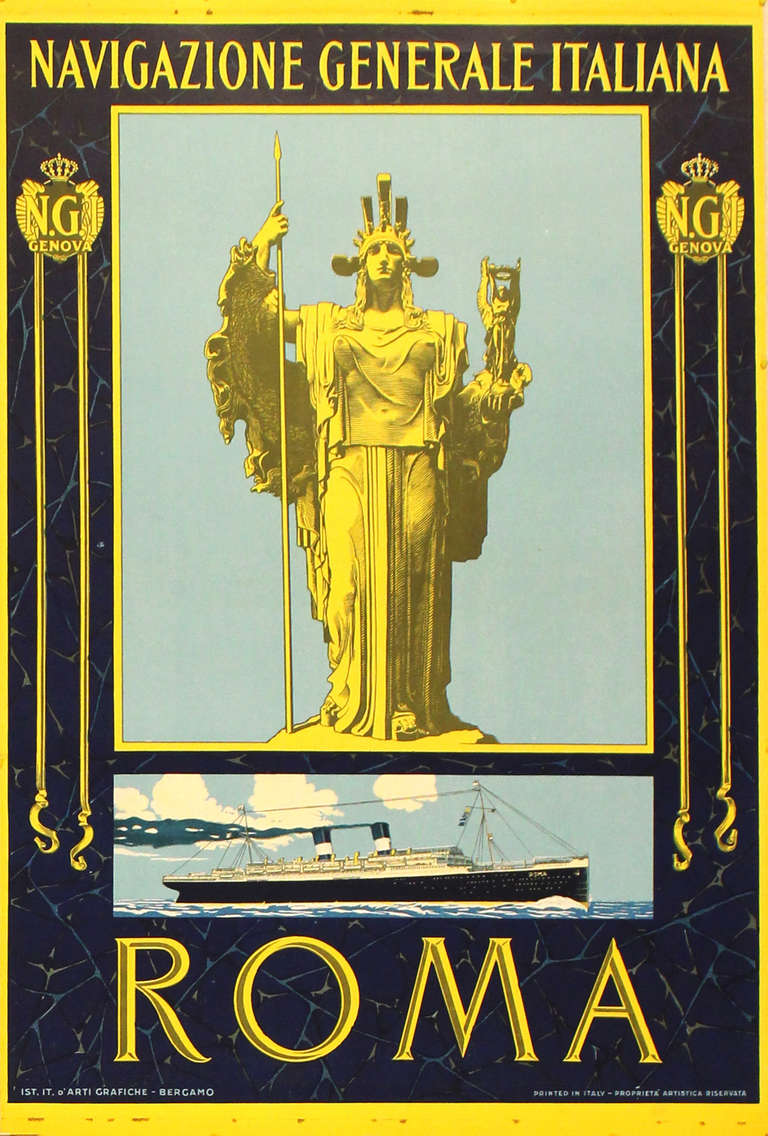 Unknown - Original Vintage Art Nouveau Travel Poster ...