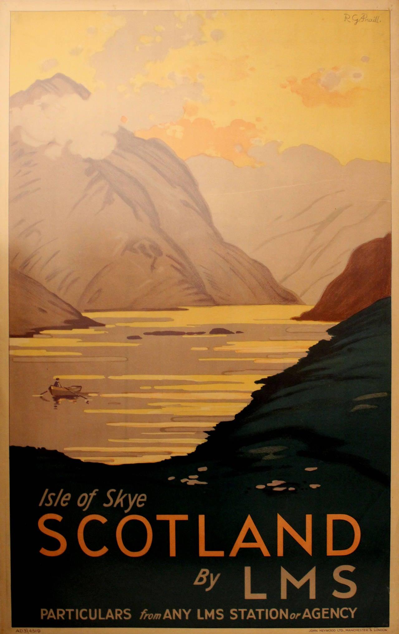 R.G. Praill - Original 1930s LMS Railway Travel Poster By ...