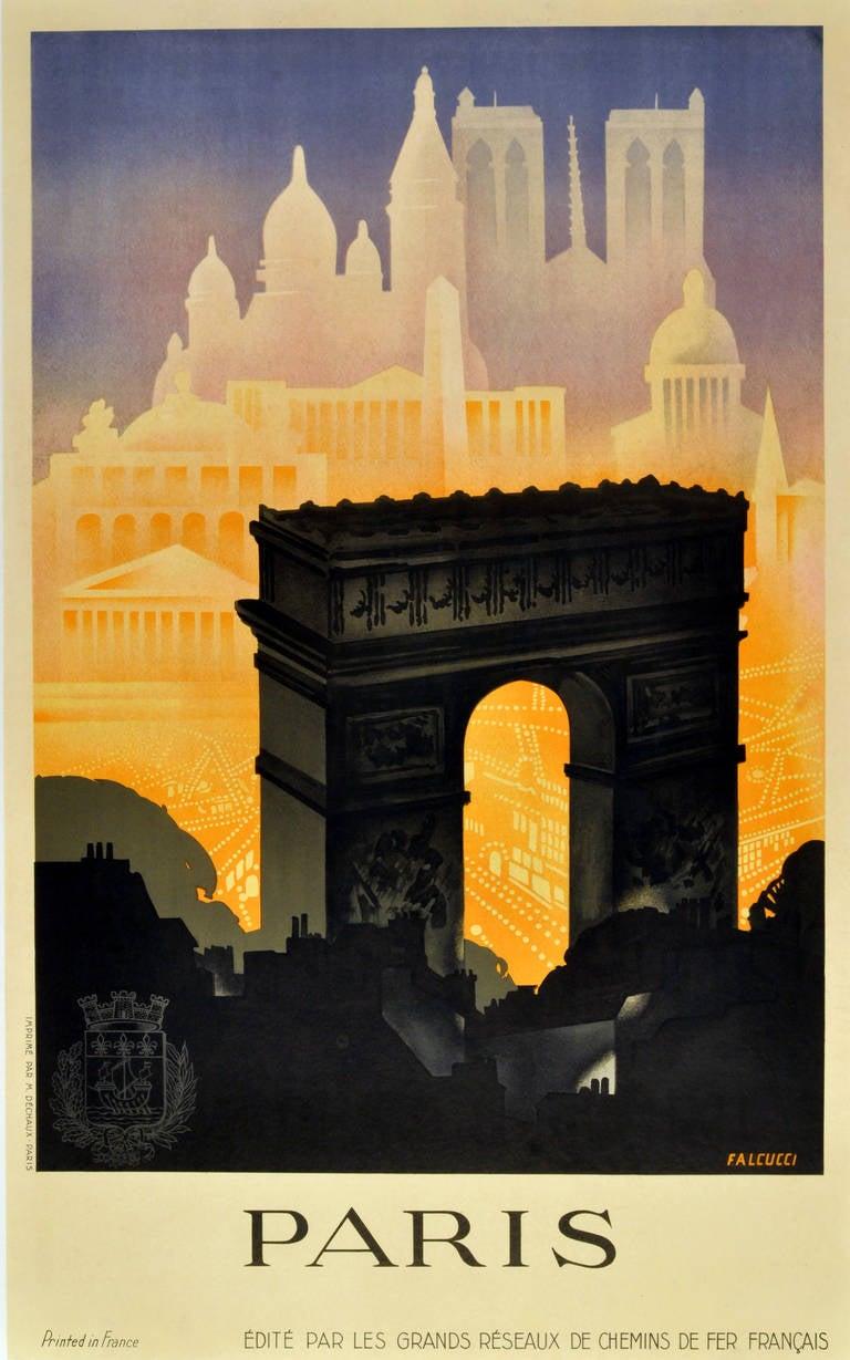 Robert Falcucci Paris Original Vintage 1930s Art Deco