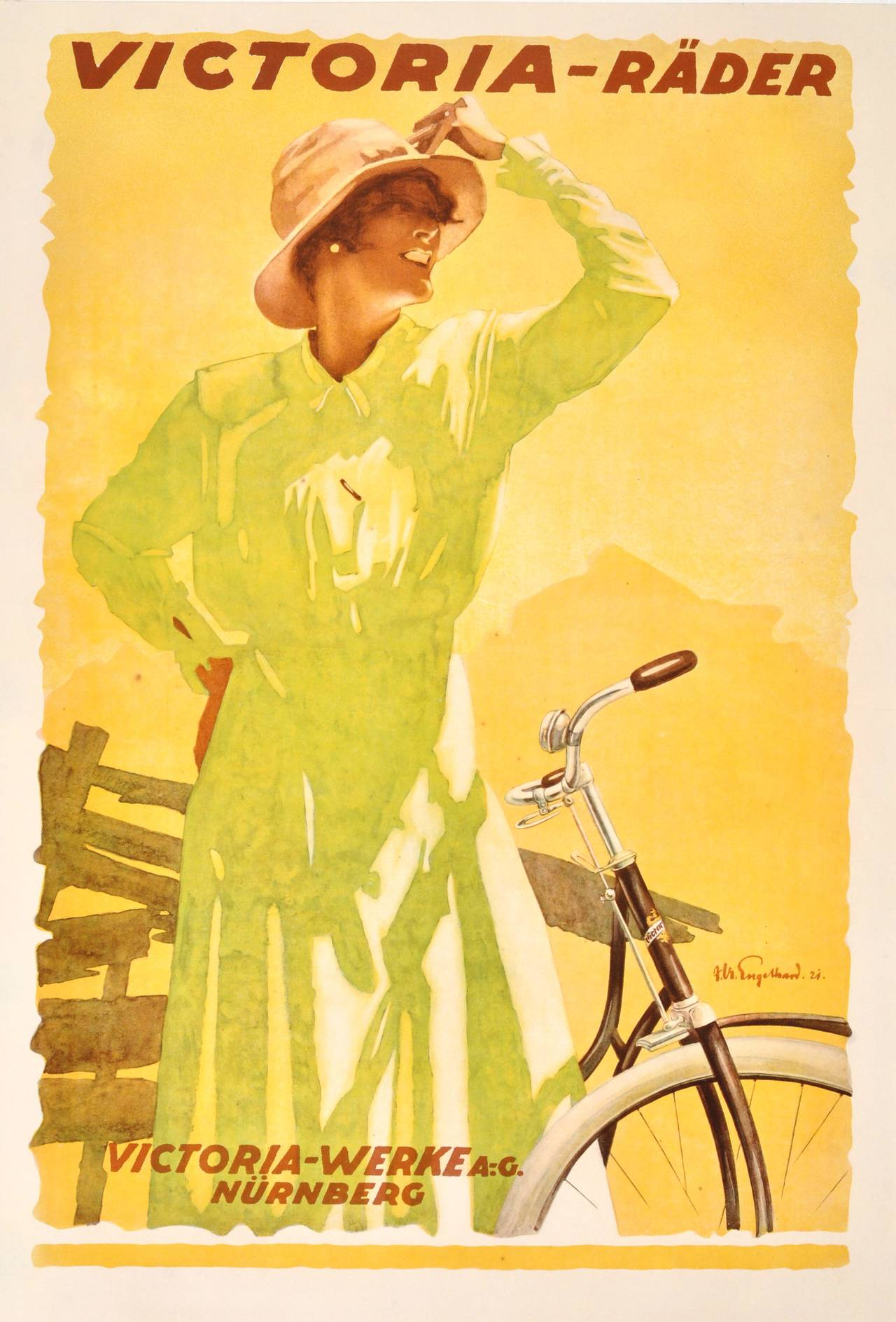 Julius Ussy Engelhard - Original Vintage 1921 Bicycle ...